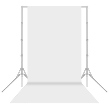 1.6x6m/5x20ft Photography Studio Non-woven Backdrop Background Screen Solid Color Black
