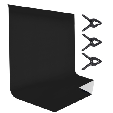 Andoer 1.5 * 2M/ 5 * 6.6ft Bi-Color Photography Backdrop Background Screen Washable Polyester-Cotton