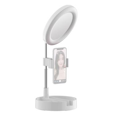 Portable LED Ring Light Foldable Desk Circle Lamp Fill Light