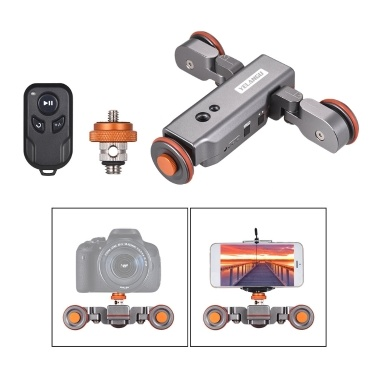 YELANGU L4 PRO Motorized Camera Video Dolly with Scale Indication Electric Track Slider Wireless Remote Control
