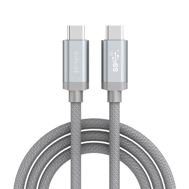 dodocool USB-IF Certified 3.3ft / 1m Nylon Braided USB-C USB-C Male Cable E-marker USB 3.1 Type-C Charge Data Sync Devices USB-C Connection Grey