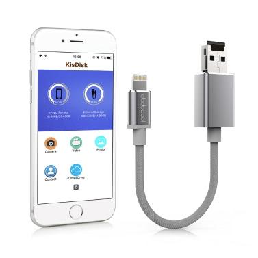 dodocool 0.5ft / 15cm Blitz auf USB-A 2.0 Kabel mit Micro SD Card Slot - Extra Datenspeicher Backup und Management
