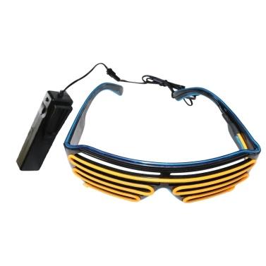 YJ006 Sprachsteuerung LED Brille 15 Farben Optionales Licht