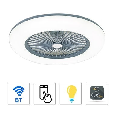 36W Modern LED Ceiling Fan with Lighting LED Light with APP Mobile Phone Control