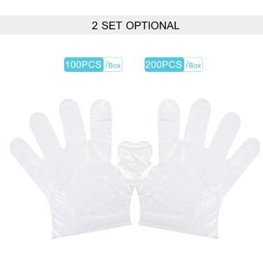 Einweg-PE-Handschuhe Transparente Einweghandschuhe Latexfreie Lebensmittelzubereitung Sicherer Handschuh für die Haushaltsreinigung Restaurant Küche Catering Verwenden Sie 100PCS / Box