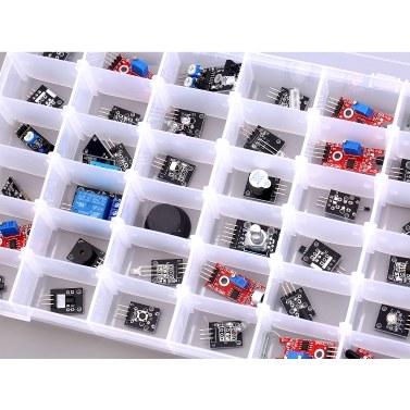 37-teiliges Sensorkit Kompatibel mit Arduino-Starter mit Aufbewahrungskoffer 37-in-1-Sensormodul-Kit