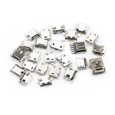 Multi-specification Micro USB Connector Pin Charge Female SMT Socket Jack Set 100pcs