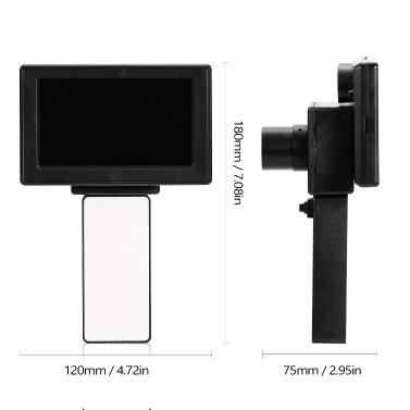 Handheld-Infrarot-Nachtsichtgerät Infrarot-beleuchteter Nachtsichtbildschirm mit 12-mm-Objektiv und 2-teiligem Infrarot-Fülllicht