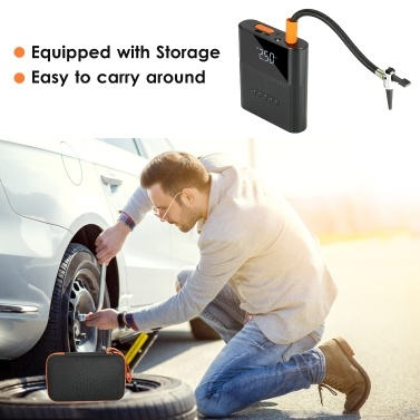 Mini Power Booster 8800mAh Car Battery Booster Wireless Emergency Charger & Car Tire Inflator with LED Light