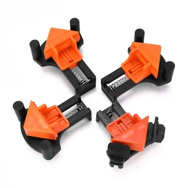 Woodworking Angle Clamp Utility Fixation Tool Corner Mate Picture Frame Clip Household Tools Installer 60° 90°120° Multiangle Tool for 5~22mm Clamping Thickness