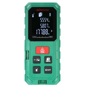 KKmoon 40m Portable Handheld Digital Laser Distance Meter High Precision Range Finder Length Area Volume Measurement 20 Group Data Storage with VTN LCD