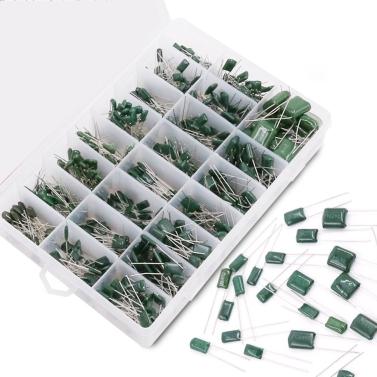 Plastic Case 700pcs 24 Values Mylar Polyester Film Capacitor Assortment Kit 0.22NF to 470NF / 100V