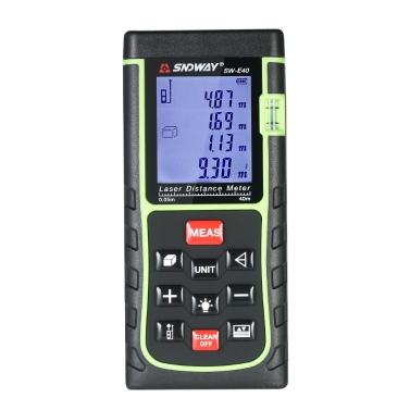 Mini Handheld LCD Digital Laser Entfernungsmesser Entfernungsmesser Entfernung Bereich Volumenmessung 100 Gruppen Datenspeicherung