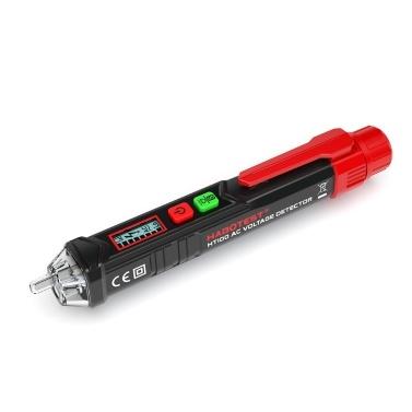 HABOTEST Tragbarer berührungsloser Wechselspannungsprüfer in Stiftform V ~ Alarmmelder mit Ton- und Lichtalarm