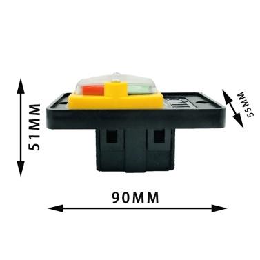 Universal KAO-5M Sicherheitsschalter Not-Aus Sicherer Abschaltmörder Wasserdichte und staubdichte Schalter Elektromagnetischer Schalter für Schleifmaschine