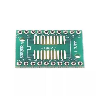 25 stücke PCB Board Kit SOP20 SMD zu DIP Adapter Platte 1,27mm DIP Pin PCB Board Konvertieren