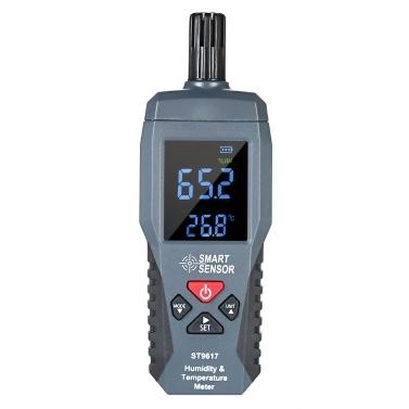 SMART SENSOR Humidity & Temperature Meter High Accuracy Digital LCD Display Humidity Hygrometer Temperature Meter Thermometer Gauge Tester