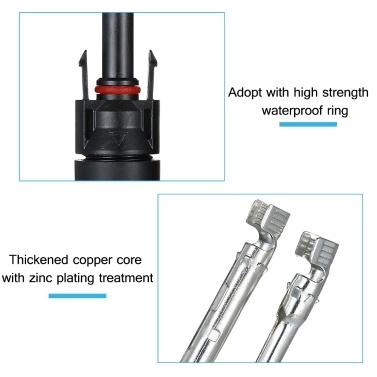 MC4-Steckverbinder Solarpanel-Adapter Solarpanel-Steckverbinder Sun Energy Panel-Verbindungsstecker MC4-Buchse und -Stecker