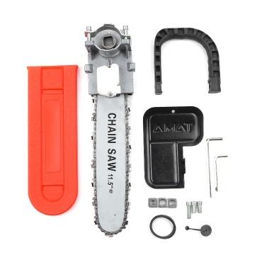 DIY Elektrische Säge 11,5 Zoll Kettensägenhalter Set Winkelschleifer zu Kettensäge Konverter Für 100 Winkelschleifer mit Sägenabdeckung