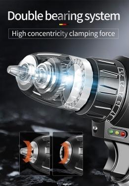 21V Cordless Drill Drive Kit 2-bürstenloser bürstenloser Akku-Bohrer