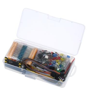 830 Breadboard Set Elektronik Komponenten Starter DIY Kit mit Kunststoffbox Kompatibel mit Arduino UNO R3 Komponentenpaket