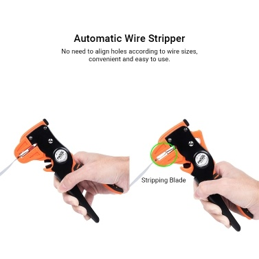 PARON Automatic Duck-billed Stripper Multifunctional Wire Stripping and Cutting Pliers Dual Layer Handle Duckbill Pliers AWG24-10 0.2-6.0mm² JX-1311