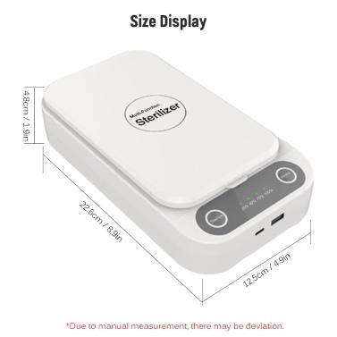 Multifunktions-Reinigungsgerät UV-Lichtreinigungs-Reinigungsbox Tragbares Reinigungsgehäuse mit USB-Anschluss Typ-C-Schnittstelle für Schmuckuhren für Mobiltelefone