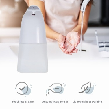 250ml Infrared Foaming Soap Dispenser Automatic Foam Soap Dispensing Device Non-touch Soap Dispenser & Holder Hand Free Countertop Soap Dispenser Touchless Soap Container with IR Sensor