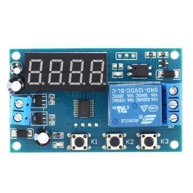 Temporizador multifunções do temporizador do relé do controle do interruptor do módulo do tempo de atraso DC 12V