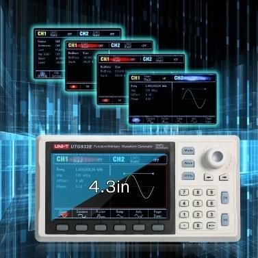 UNI-T-Funktion / Generator für beliebige Wellenformen 30-MHz-DDS-Zweikanalsignalgenerator Zähler 200MSa / s Frequenzmesser Sinus-Rechteckgenerator für den Test elektronischer Laborgeräte