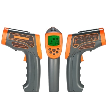 Infrared Thermometer Digital Laser Thermometer Temperature Gun -18~1650℃ with Adjustable Emissivity LCD Display Pyrometer with Backlight Data Storage ℃/℉