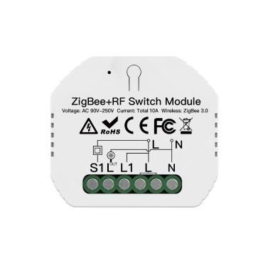 ZIGBEE3.0 Hide Breaker One Way Intelligent Switch Module APP Remote Control Timer Function Compatible Amazon Alexa Google Assistant