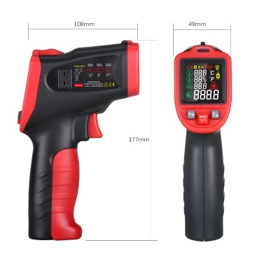 wintact -50℃~850℃ Infrared Thermometer Professional Industrial Thermometer Multi-Purpose Instrument