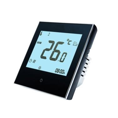 Termostato programable para el hogar con WiFi para sistema de calefacción de piso radiante Termostato inteligente con pantalla táctil solo calor con aplicación y control de voz para sistema de calefacción de piso 95-240V Reemplazo para Amazon Echo Google Home Tmall Genie