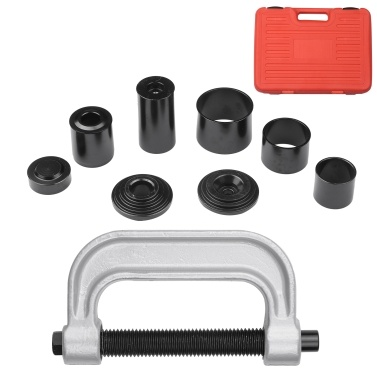 10Pcs Heavy-duty Ball Joint Press Kit U-Joint Removal Tool Brake Anchor Pin Press Lower Ball Joint Remover and Installer for 2WD and 4WD