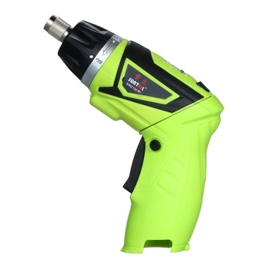 6.0N.m Cordless Electric Screwdriver 2PCS Rechargeable 1500mAh Li-ion 7 Torque Setting 2 Position Handle with LED Light with 6 Accessories 1/4in Quick Release Chuck
