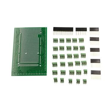 Terminal Block Shield Board Set Parts Prototype PCB Terminal Block Female Header Sockets Compatible with Arduino MEGA-2560