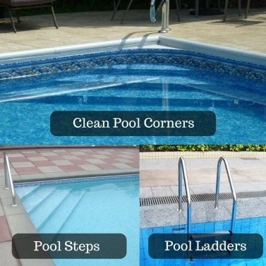 5 Inch Heavy Duty Wire Pool Brush Swimming Pool Cleaner Aluminium Handle and Stainless Steel Bristles Designed for Concrete and Gunite Pools Great on Extremely Tackling Stubborn Stains