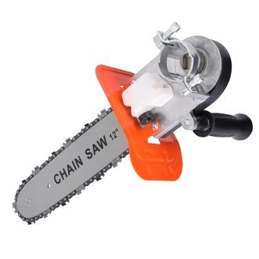 Haushalt 12 Zoll Elektro-Kettensäge Modifizierter Werkzeug-Winkelschleifer Modifiziert auf Elektro-Kettensägen-Zubehör (mit Schnellverstellknopf)