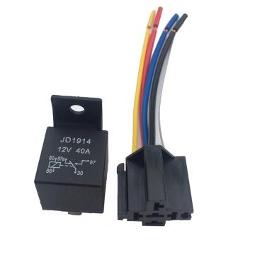 12V 40A AMP 5 SPDT Auto-LKW-Auto Automobil Automotive-Relais mit 5 Pin Buchse 5 Leitungen für GPS Lamplight Fan Klimaanlage
