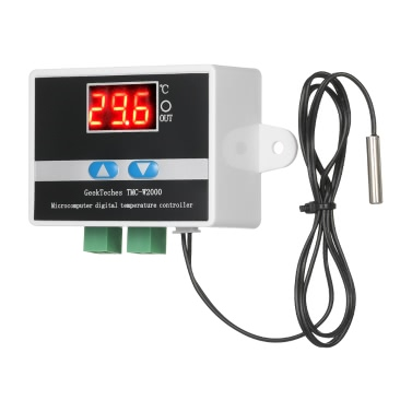 Buy GeekTeches TMC-W2000 AC110-220V 1500W High Precision LCD Digital Temperature Controller Thermostat Waterproof Sensor Probe