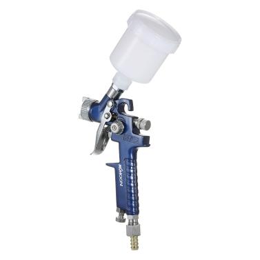KKmoon 0.8mm Mini HVLP Air Spray Gun Airbrush Kit Touch Up Paint Sprayer Gravity Feed Air Brush Set Auto Car Painting for Spot Repair