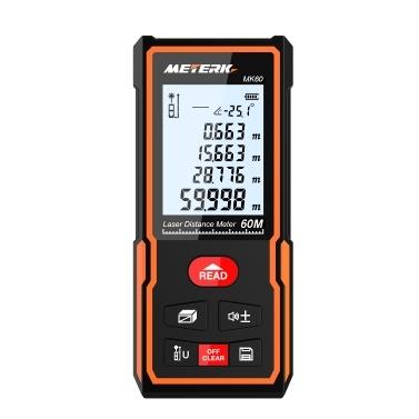 Meterk MK60 Handheld Digital Laser Entfernungsmesser 60m