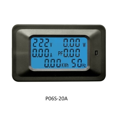 P06S-20A 6 IN 1 AC 110-250V Digital Voltage Meters Indicator LCD  Power Energy Voltmeter Ammeter Current Amps Volt Wattmeter Tester Detector