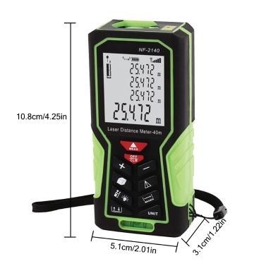 NF-2100 Handheld Laser Entfernungsmesser Digitales Entfernungsmessgerät Elektronisches Lineal / 328ft 100m