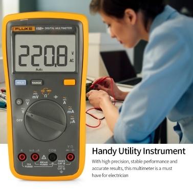 FLUKE F15B + 4000 Counts Multimeter-Handvoltmeter Amperemeter zur Messung des AC / DC-Spannungswiderstands Kapazitätsdiode Durchgang