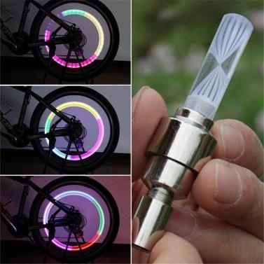 Nachtlicht 7Color Fahrrad Dekoration LED Licht Fahrrad Zubehör Reifen Lampe