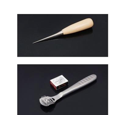 Professionelles 24-teiliges Leder-Bastelwerkzeug-Kit Hand-Lederhandwerk-Zubehör-Werkzeugset für die Lederherstellung