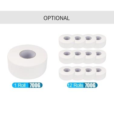 12 Rollen 4 Schichten 700 g Zellstoff Bad Taschentuch Jumbo Papier Haushalt Toilettenpapierrolle mit Kern Breakpoint für Home Hotel Supermarkt 90mm * 130mm