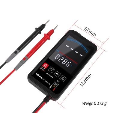 KKmoon KKM128 4,7-Zoll-Touching-Farbbildschirm Ultradünner Multimeter-Spannungsfrequenz-Kapazitätswiderstandsmesser 6000 Zähleranzeige mit Hintergrundbeleuchtung Taschenlampendaten-Funktion zum automatischen Ausschalten